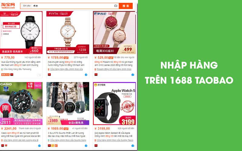 Phụ kiện trên 1688 Taobao đa dạng mẫu mã