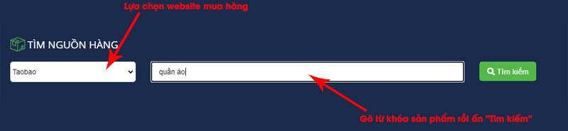 Tìm kiếm sản phẩm trên website Hachina