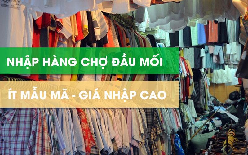 Lấy sỉ hàng Quảng Châu tại chợ đầu mối